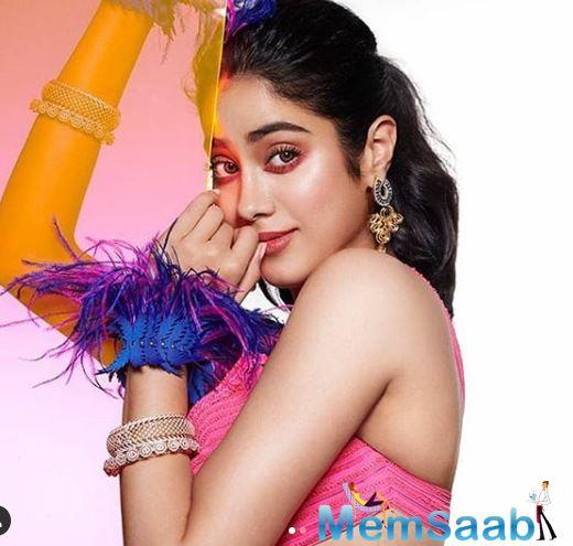 While Janhvi Kapoor is riding high on the success of her projects, she recently embraced the cover of a magazine named, Brides Today.