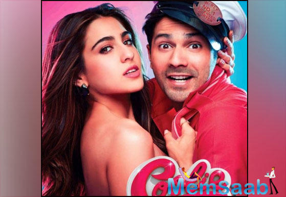 Varun Dhawan and Sara Ali Khan starrer Coolie No 1 is being shot at Filmistan Studio, Goregaon, Mumbai.