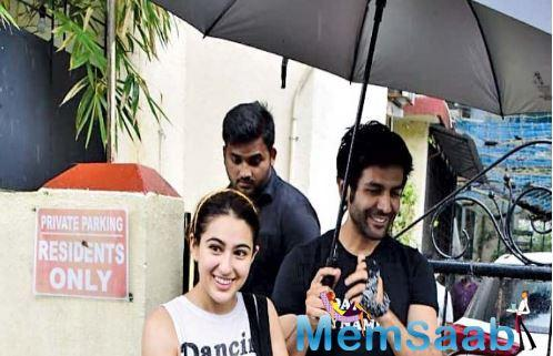 Was what Kartik Aaryan seemed to have said to Sara Ali Khan when he went to pick her up after her dance class.