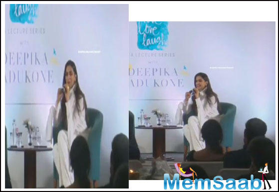 Deepika Padukone launched her first lecture series on mental health on Sunday in New Delhi that aimed at creating awareness about anxiety and depression.