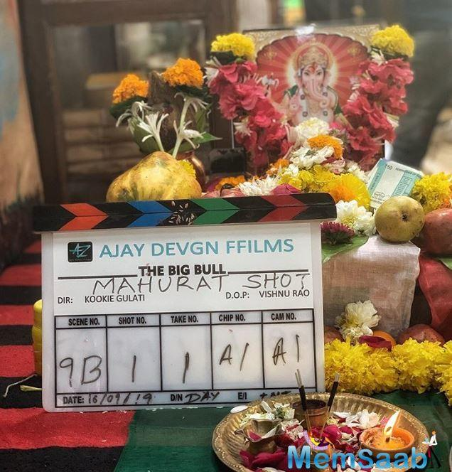 "Abhishek on Monday posted a photograph of the film's clapboard and captioned it: ""Here we go! A new journey, a new beginning. Need your best wishes. Ajay Devgn, Kookie Gulati."""