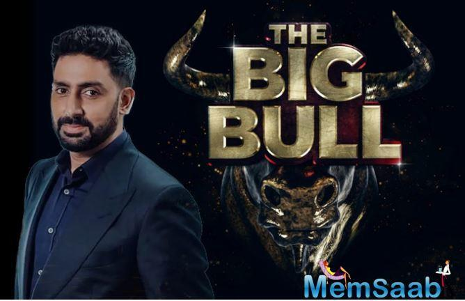 "Abhishek on Tuesday shared the film's first poster on Twitter and captioned it: ""'The Big Bull'. Now filming."""