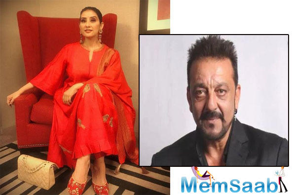 """She describes Sanjay as one of her favourite co-stars. """"We've done quite a few films together in the past like Yalgaar, Khauff and Mehbooba. We share a fantastic rapport."""""""