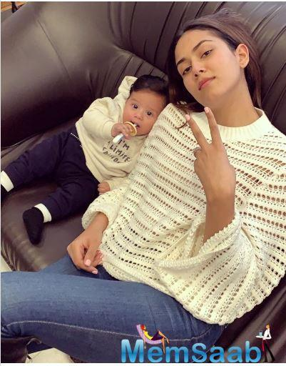 Mira Rajput is staying true to being a cool mommy;