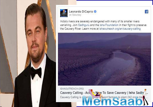 A letter signed by the coordinator of the Environment Support Group Leo F. Saldanha addressed Leonardo DiCaprio and emphasized why Cauvery Calling campaign is not the appropriate platform for rehabilitating the river basin.