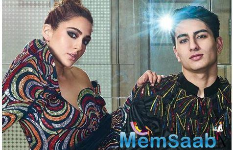 Sara Ali Khan and her brother Ibrahim Ali Khan's first magazine cover has taken the Internet by storm. Sara on Tuesday shared a couple of photos of the magazine cover on her Instagram profile.