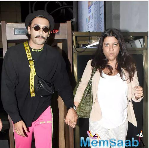 On Thursday, Ranveer was spotted exiting a cinema hall with filmmaker Zoya Akhtar who has directed his films 'Dil Dhadakne Do' and 'Gully Boy'.