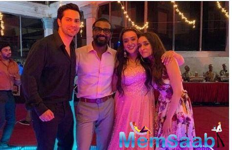 Dhawan and Kapoor participated in their director and wife Lizelle Remo D'Souza's third wedding celebrations and the actor had a rather hilarious take on the same.