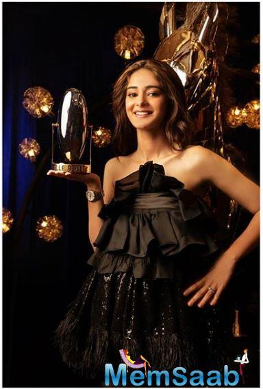 The Elle Rising Star of the Year award was bagged by the Student of the Year 2 actor, Ananya Panday, who looked cute as a button in a dress she described as fun on her Instagram post.