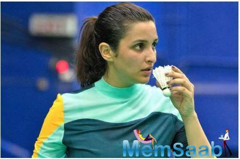 The actress has been practicing for the last six months to step into the shoes of the Olympian shuttler, taking her coach Eshan Naqvi with her to London.