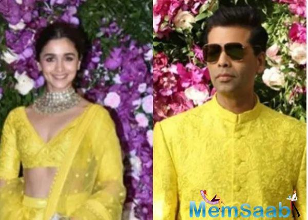 Alia Bhatt has more often than not said that she considers Karan Johar as her mentor and KJo too has been very vocal about his parental instincts for Alia and how proud he is of her!