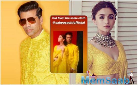 Well, Karan Johar in this throwback post has certainly proved that fashion has no gender with him and Alia literally wearing outfits cut from the same piece of cloth.