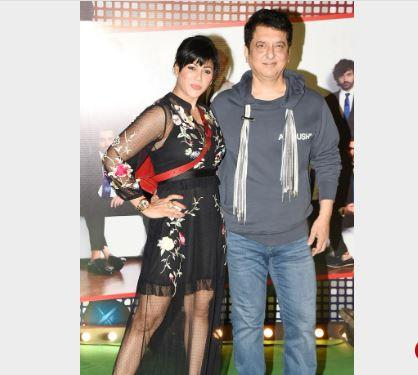 Sajid Nadiadwala and wife Wardha arrive for '83 wrap up party at Bandra eatery.