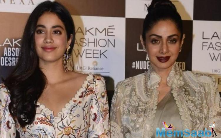 It was during one of Janhvi's school performances that the iconic Sridevi directed her dance moves. Janhvi Kapoor said,