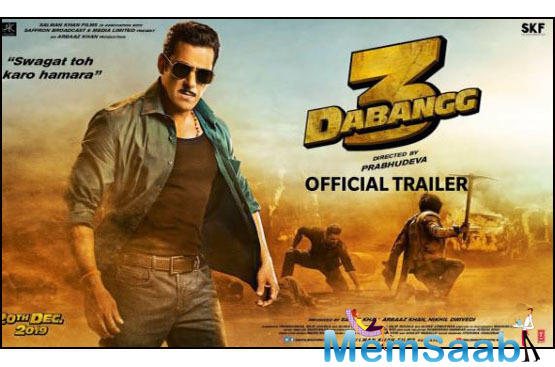 Dabangg 3's trailer is all set to release on October 23 and fans are excited to witness the return of their beloved Chulbul 'Robinhood' Pandey.