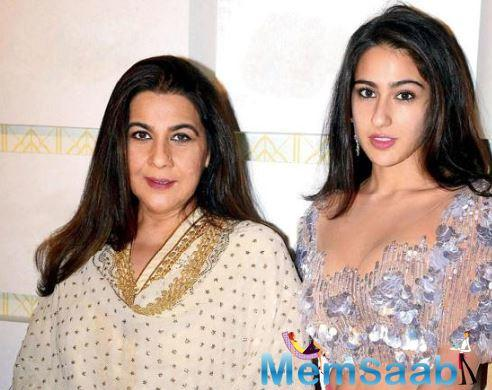Sara Ali Khan is back from her Sri Lankan vacation and after giving her fans a glimpse of her exotic trip, the young starlet has shared an adorable picture of herself posing with her mother Amrita Singh as they twin in white.