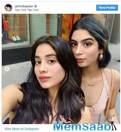 Janhvi Kapoor shared a throwback picture with her younger sister Khushi Kapoor from her last trip to New York on social media. Through this post, the Dhadak star opened up on how much she is missing her.