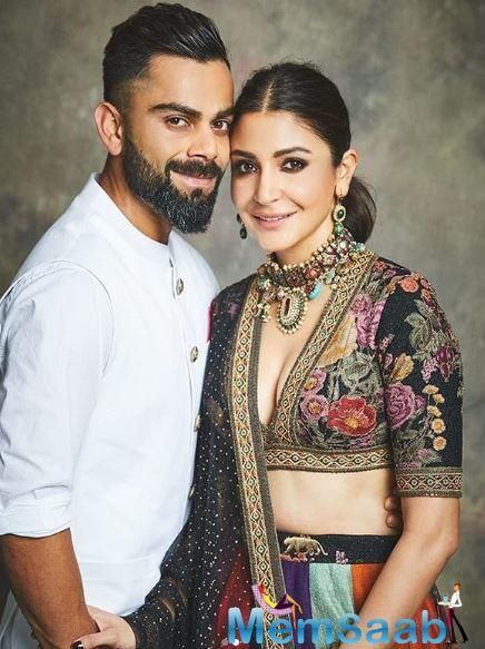 Performing the religious ceremony, Anushka was dressed in a bright yellow suit while Virat opted for a simple golden kurta and black pants.