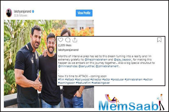 The film will be produced by Dheeraj Wadhawan, Ajay Kapoor and John's production house JA Entertainment and is expected to go on floors this December, trade analyst Taran Adarsh shared on his Twitter handle.