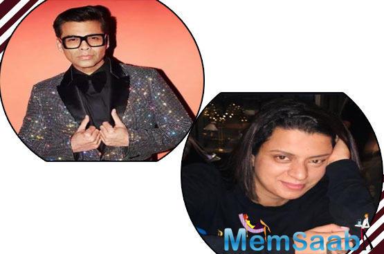 Teasing Karan Johar, Rangoli wrote,