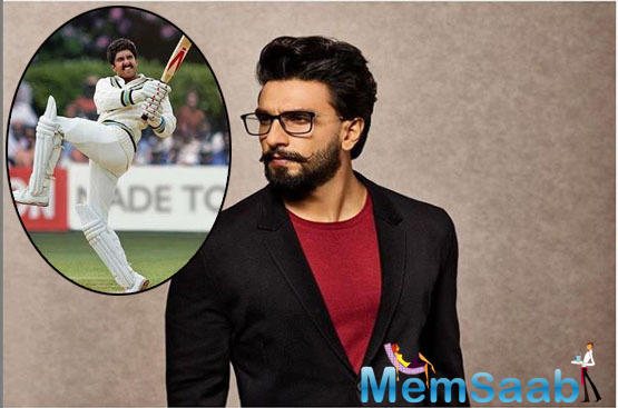 Knowing to be getting into the skin of the character, Ranveer Singh has recreated Kapil Dev aka Haryana Hurricane's famous Natraj shot.