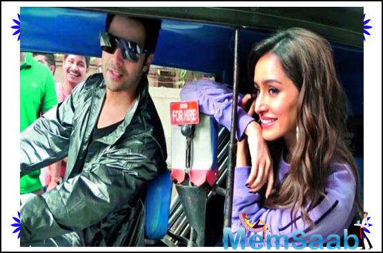 """""""Varun got into an auto-rickshaw and asked Shraddha Kapoor to sit behind. Shraddha was cool and smiling, up until Varun, who had earlier turned on the ignition, decided to drive."""