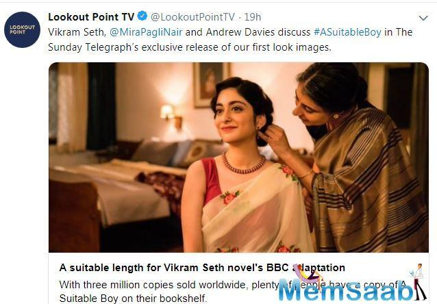 The first look of Mira Nair directed series A Suitable Boy is out. The photo features Ishaan Khatter and Tabu.