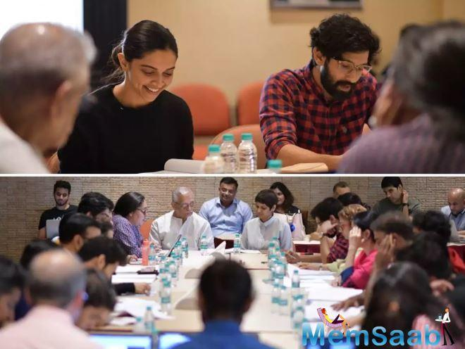 As the team started prepping for the film, Filmmaker Meghna Gulzar took to her Twitter handle to share a few pictures from their script reading sessions.