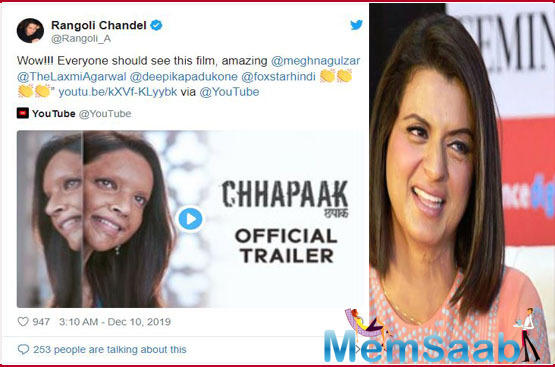 The trailer of Chhapaak is gripping and heart wrenching as it depicts the ordeal that Malti (essayed by Deepika) went through after being attacked by acid.