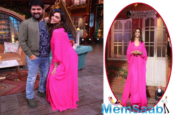 Deepika and Kapil were posing for a pic