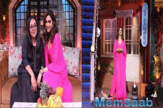 Deepika Padukone was all smiles as she entered the set of TKSS