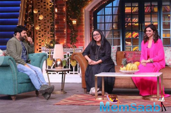 Deepika was on the Kapil Sharma Show to promote her upcoming flick Chhapaak.