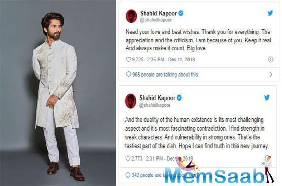 Although he has cleared his stance on why he took up the film, he once again hinted at the same in his recent tweets.