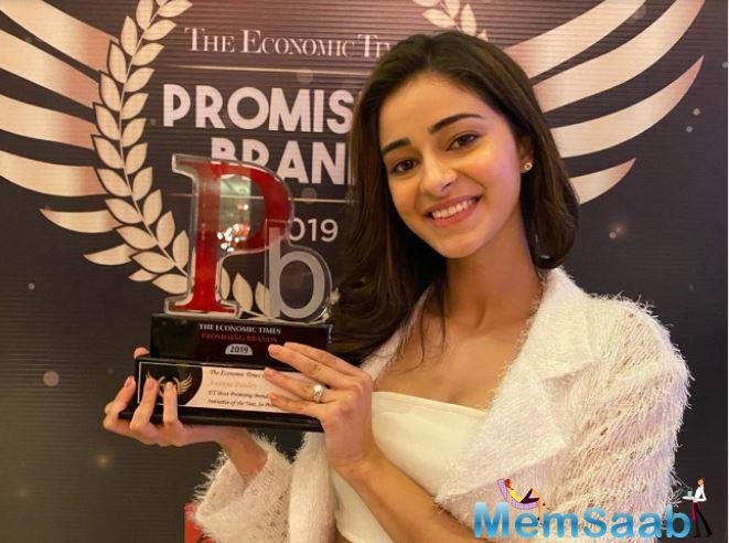 After winning this prestigious award, Ananya Panday expressed her feeling and she said,