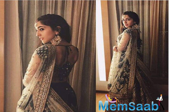 A while ago, the 'Kedarnath' actress shared yet another stunning click in which she can be dressed in a traditional outfit. Sara is wearing a heavily embellished lehenga choli which she paired with traditional chand bali jhumkas and a maangtika.