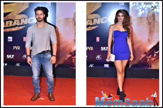 The screening was attended by celebs like Tiger Shroff, Disha Patani, Riteish Deshmukh with Genelia, Mouni Roy, Ramesh Taurani and more.