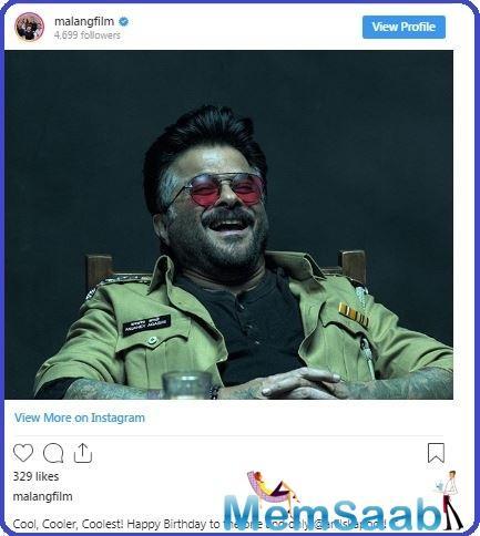 Malang, which also stars Disha Patani, Kunal Kemmu and Aditya Roy Kapur, sees Anil Kapoor essay a part with shades of grey.
