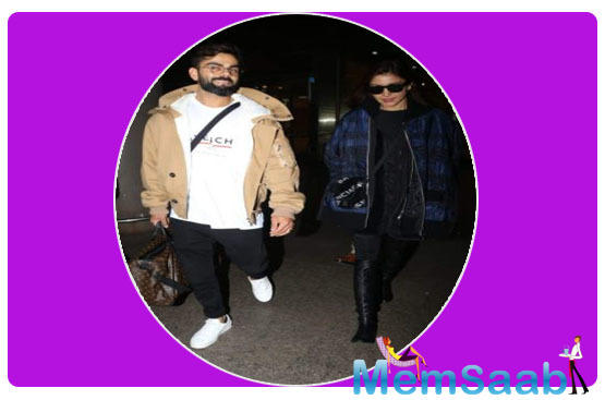 In these photos, the 'Pari' actress sported an all-black look. She completed her look with a blue and black printed jacket and stylish pair sunnies.