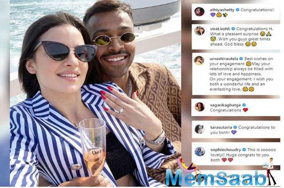 Hardik's alleged ex-love Urvashi Rautela also wished him on Instagram.