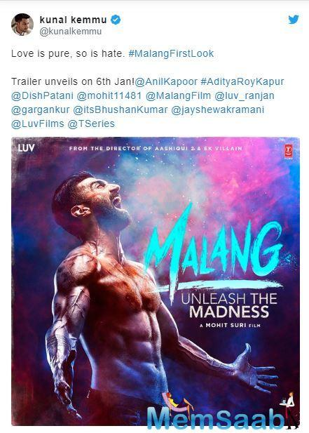 Today, the first poster of 'Malang' has been unveiled featuring Aditya on it. The poster looks intriguing and it has definitely raised the expectations.