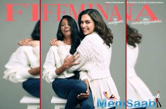 Sharing the cover on her social media, Deepika Padukone shared the cover with Laxmi Agarwal,