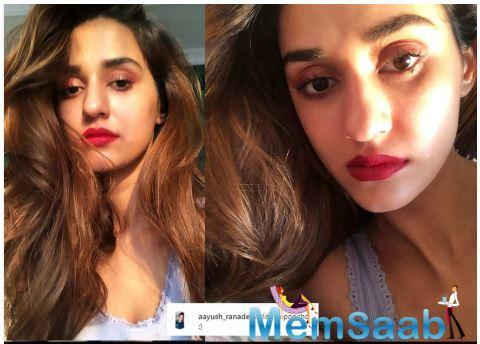 Decked up in a scarlet lips, Disha asked her fans today if the colour was 'yay or nay' and invited a whole lot of comments on her picture.