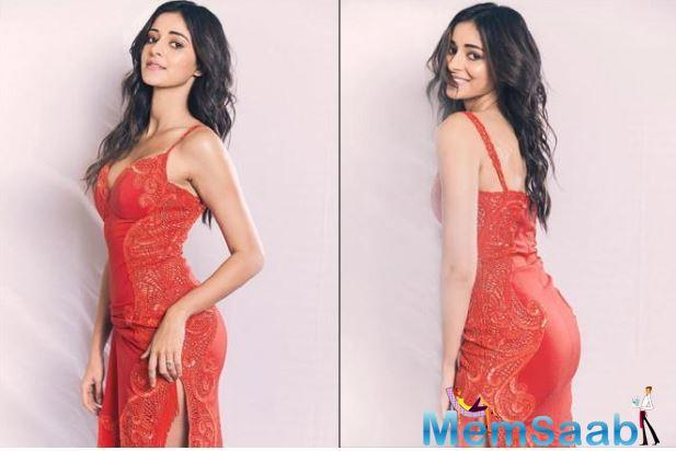 Ananya recently attended an award show, dressed in a ravishing red dress, and won an award for The Best Debutante.