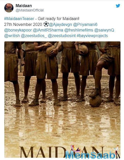 Ajay Devgn will soon be seen in a biopic, which is based in the era from 1952-1962, considered as the golden years of Indian football.