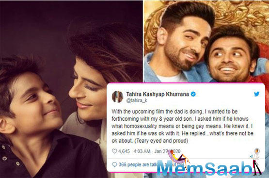 The 35-year-old National Award winner, without saying, has the support of his wife Tahira Kashyap, but it is the couple's son Virajveer Khurana who is making his family proud.
