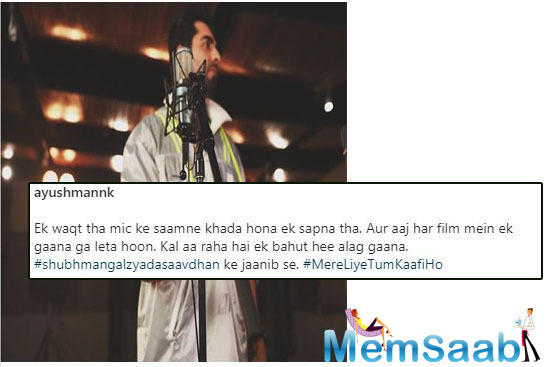 Ayushmann Khurrana is back in his singer avatar for his upcoming comedy-drama Shubh Mangal Zyada Saavdhan.