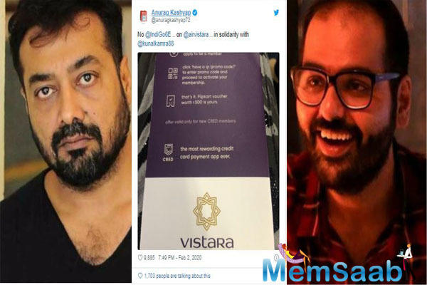 Now, filmmaker Anurag Kashyap has said that he will not fly IndiGo till their ban on Kunal is lifted.