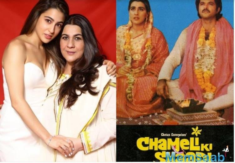 As per a report in an entertainment magazine, Sara has been approached for the remake of her actress mother Amrita's Chameli Ki Shaadi also starring Anil Kapoor.
