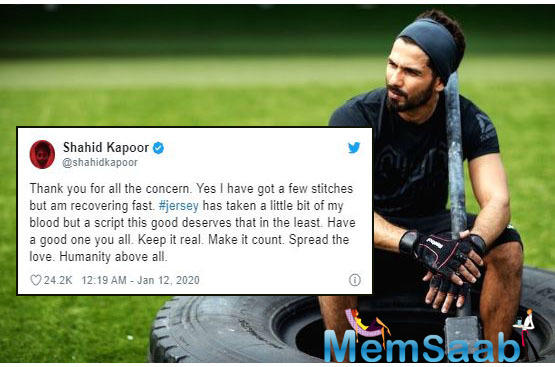 Shahid Kapoor has been training hard to essay the role of a cricketer on the silver screen for the Hindi remake of hit Telugu film 'Jersey'.