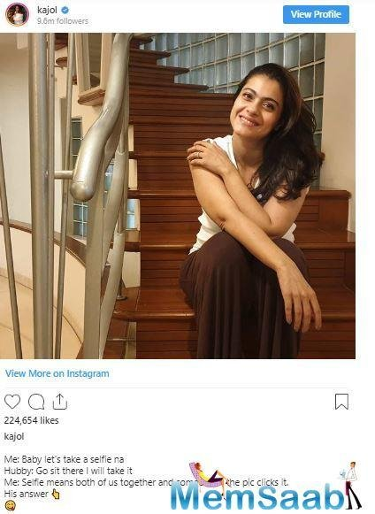 The photo is clicked by her hubby and it will make you fall in love with the couple all over again!